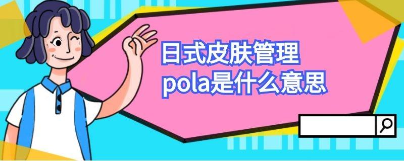 日式皮肤管理pola是什么意思插图